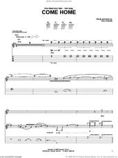 Cover icon of Come Home sheet music for guitar (tablature) by Back Door Slam and Davy Knowles, intermediate skill level