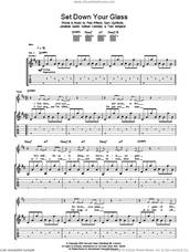 Cover icon of Set Down Your Glass sheet music for guitar (tablature) by Snow Patrol, Gary Lightbody, Jonathan Quinn, Nathan Connolly, Paul Wilson and Tom Simpson, intermediate skill level