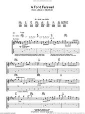 Cover icon of A Fond Farewell sheet music for guitar (tablature) by Elliott Smith, intermediate skill level