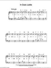 Cover icon of In Dulci Jubilo sheet music for piano solo, intermediate skill level