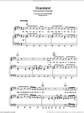 Cover icon of Graceland sheet music for voice, piano or guitar by Paul Simon, intermediate skill level