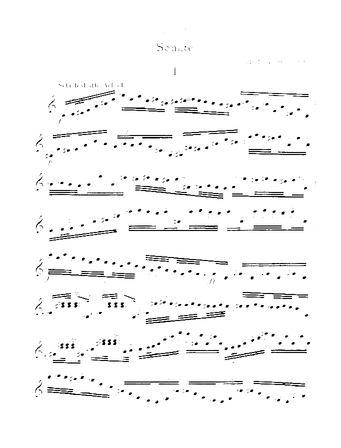 Sonata sheet music for violin solo by Paul Hindemith, classical score, intermediate/advanced skill level