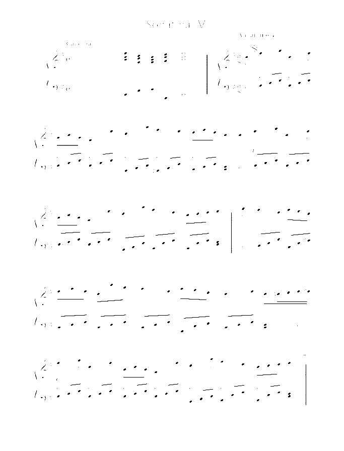 Sonatina IV sheet music for piano solo by Johann Baptist Vanhal, classical score, easy/intermediate skill level