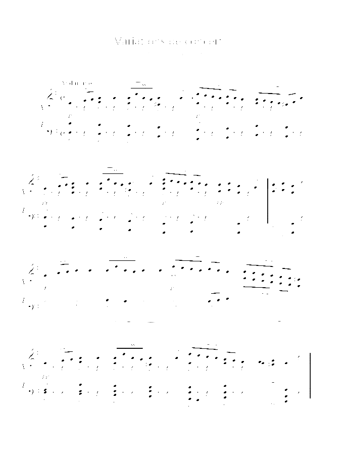 Variations de concert sur un theme original sheet music for piano solo by Charles Marie Widor, classical score, intermediate/advanced skill level