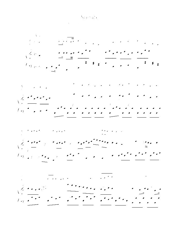 Sonata in C major sheet music for violin and piano by Johann Sebastian Bach, classical score, easy skill level