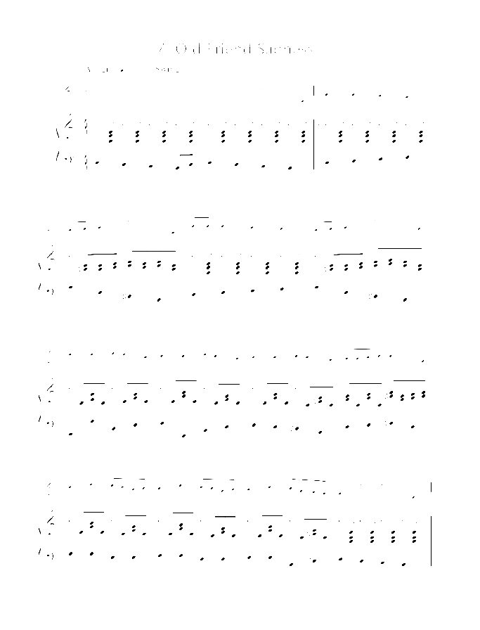 Old Friend Sadness sheet music for violin and piano by Joachim Johow, easy/intermediate skill level