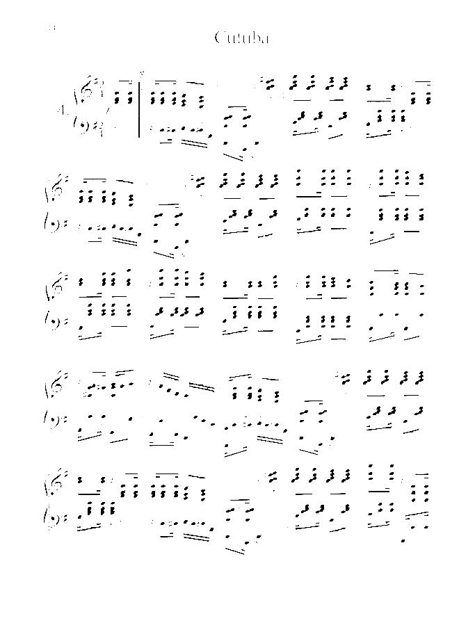 nazareth - cutuba, clever sheet music for piano solo  virtual sheet music