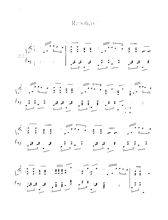 Rebolico sheet music for piano solo by Nazareth, easy/intermediate skill level