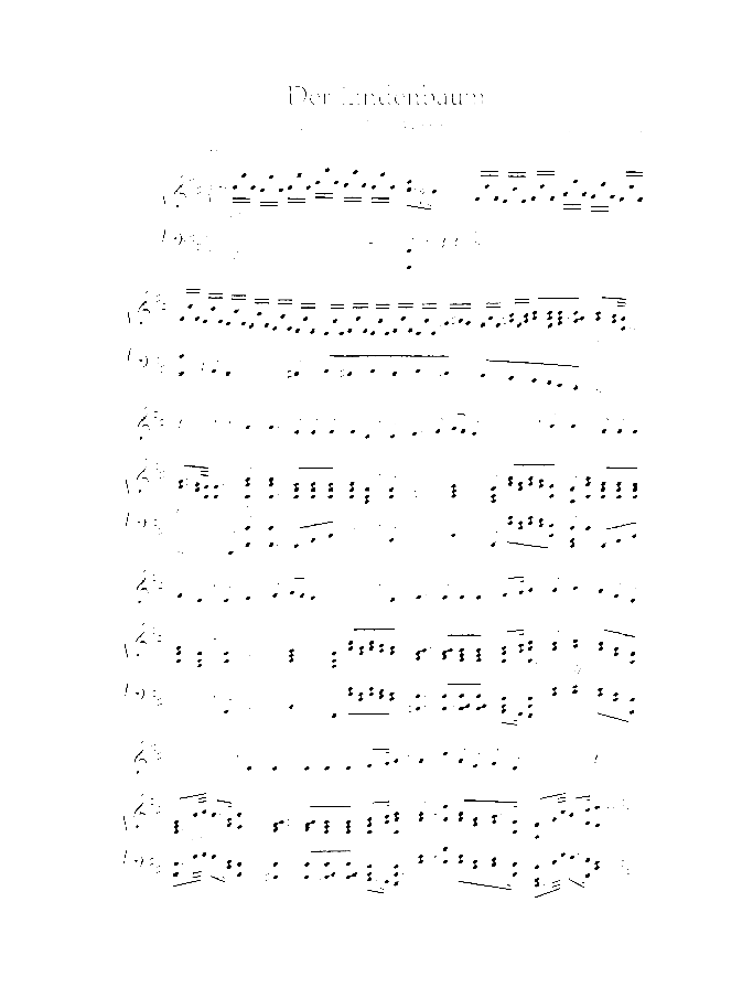 Der Lindenbaum sheet music for alto and piano by Franz Schubert, classical score, easy/intermediate skill level