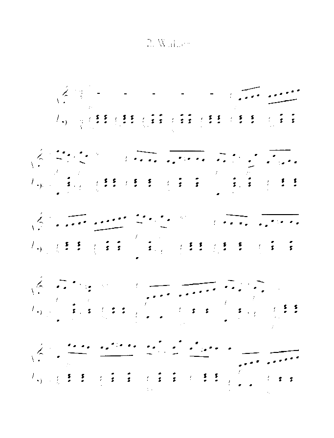 Waltzes II in B-flat major sheet music for piano solo by Benjamin Godard, classical score, easy/intermediate skill level