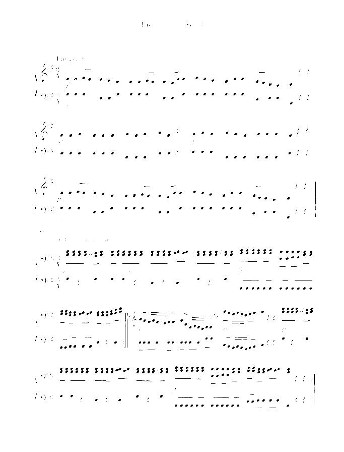 Three little pieces sheet music for piano four hands by Anton Bruckner, classical score, easy skill level