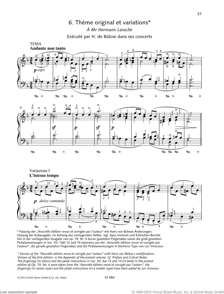 Piano Pi/èces et Variations