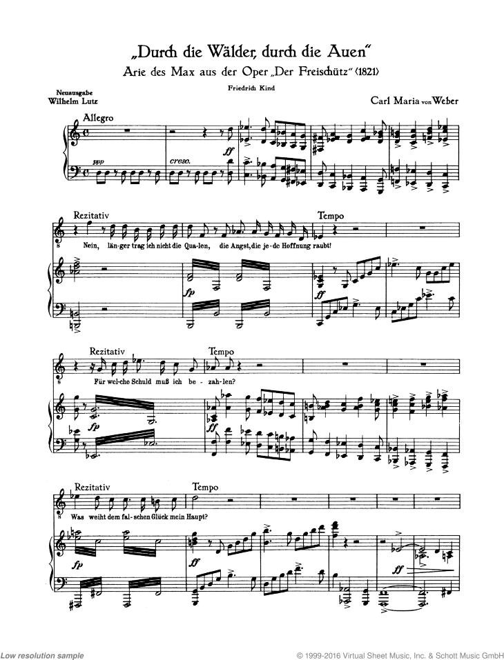 Vocal Score Op Der Freischutz 77
