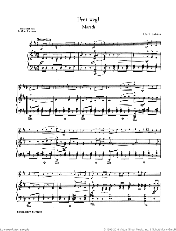 Frei weg! March - Piano