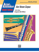 Cover icon of Ave Verum Corpus (COMPLETE) sheet music for concert band by Wolfgang Amadeus Mozart and Mark Williams, classical score, beginner skill level