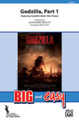 Cover icon of Godzilla, Part 1 (COMPLETE) sheet music for marching band by Alexandre Desplat and Michael Story, intermediate skill level