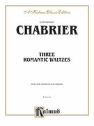 Cover icon of Three Romantic Waltzes (COMPLETE) sheet music for piano four hands by Anton Bruckner, classical score, easy/intermediate skill level