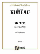 Cover icon of Six Duets, Op. 57bis and 81 (COMPLETE) sheet music for two flutes by Friedrich Daniel Rudolf Kuhlau and Friedrich Daniel Rudolf Kuhlau, classical score, intermediate duet