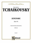 Cover icon of Serenade, Op. 48 (COMPLETE) sheet music for piano four hands by Pyotr Ilyich Tchaikovsky and Pyotr Ilyich Tchaikovsky, classical score, easy/intermediate skill level