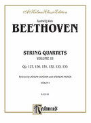 Cover icon of String Quartets, Volume III (COMPLETE) sheet music for string quartet by Ludwig van Beethoven, classical score, easy/intermediate skill level