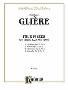 Cover icon of Four Pieces (COMPLETE) sheet music for double-bass and piano by Reinhold Glire, classical score, intermediate skill level