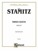 Cover icon of Three Duets, Op. 27 (COMPLETE) sheet music for two flutes by Karl Philip Stamitz and Karl Philip Stamitz, classical score, intermediate duet