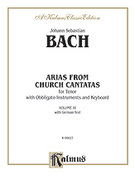 Cover icon of Tenor Arias, Volume III (COMPLETE) sheet music for voice and piano by Johann Sebastian Bach, classical score, intermediate skill level