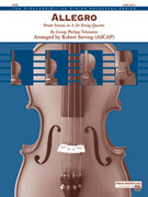 Cover icon of Allegro (COMPLETE) sheet music for string orchestra by Georg Philipp Telemann and Robert Sieving, intermediate skill level