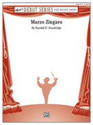 Cover icon of Marzo Zingaro sheet music for concert band (full score) by Randall D. Standridge, intermediate skill level