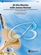 Cover icon of At the Movies with James Horner (COMPLETE) sheet music for concert band by James Horner, intermediate skill level