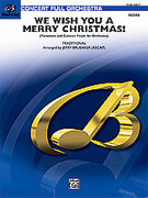 Cover icon of We Wish You a Merry Christmas sheet music for full orchestra (full score) by Anonymous and Jerry Brubaker, classical score, intermediate skill level