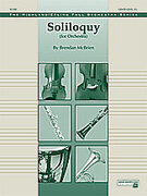 Cover icon of Soliloquy for Orchestra (COMPLETE) sheet music for full orchestra by Brendan McBrien, intermediate skill level