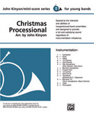 Cover icon of Christmas Processional (COMPLETE) sheet music for concert band by Anonymous and John Kinyon, beginner skill level