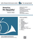 Cover icon of America, the Beautiful sheet music for concert band (full score) by Anonymous and John Kinyon, beginner skill level