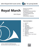 Cover icon of Royal March sheet music for concert band (full score) by John Kinyon, beginner skill level
