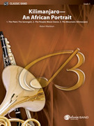 Cover icon of Kilimanjaro: An African Portrait (COMPLETE) sheet music for concert band by Robert Washburn, advanced skill level