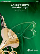 Cover icon of Angels We Have Heard on High (COMPLETE) sheet music for concert band by Anonymous and Elliot Del Borgo, classical score, easy skill level