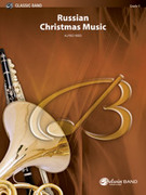 Cover icon of Russian Christmas Music sheet music for concert band (full score) by Alfred Reed, advanced skill level