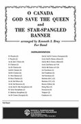 Cover icon of O Canada / God Save the Queen / Star-Spangled Banner sheet music for concert band (full score) by Anonymous, intermediate skill level