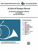 Cover icon of A Suite of Baroque Dances sheet music for concert band (full score) by George Frideric Handel and John Kinyon, classical score, beginner skill level