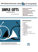 Cover icon of Simple Gifts, Shaker Folk Tune sheet music for concert band (full score) by Anonymous, classical score, beginner skill level