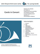 Cover icon of Carols in Concert sheet music for concert band (full score) by Anonymous and John Kinyon, beginner skill level