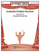 Cover icon of Academic Festival Overture sheet music for concert band (full score) by Johannes Brahms, classical score, beginner skill level
