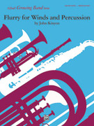 Cover icon of Flurry for Winds and Percussion (COMPLETE) sheet music for concert band by John Kinyon, easy skill level