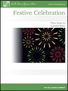 Cover icon of Festive Celebration sheet music for piano four hands by Carolyn Miller, intermediate skill level
