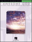 Cover icon of Awesome God sheet music for piano solo (big note book) by Rich Mullins and Phillip Keveren, easy piano (big note book)