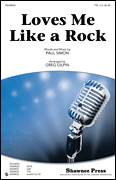 Cover icon of Loves Me Like A Rock (arr. Greg Gilpin) sheet music for choir (TTBB: tenor, bass) by Paul Simon and Greg Gilpin, intermediate skill level