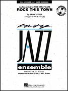 Cover icon of Rock This Town (COMPLETE) sheet music for jazz band by Brian Setzer, Rick Stitzel and Stray Cats, intermediate skill level
