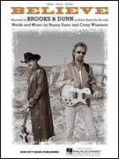 Cover icon of Believe sheet music for voice, piano or guitar by Brooks & Dunn, Craig Wiseman and Ronnie Dunn, intermediate skill level