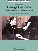 Cover icon of Prelude III (Allegro Ben Ritmato E Deciso) sheet music for piano four hands by George Gershwin and Eugenie Rocherolle, intermediate skill level